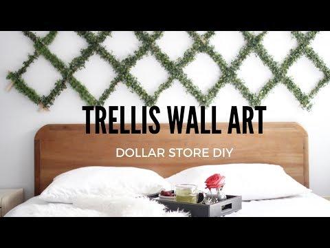 DIY TRELLIS PLANT WALL ART