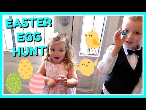 Easter Egg Hunt - Easter Family Tradition - Hunting for Chocolate Eggs!