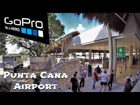 Punta Cana - Airport with thatched roof, Dominican Republic Review / Аэропорт с соломенной крышей