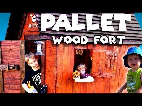 Pallet Wood Fort / My Nerf Shack