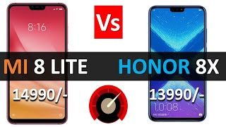 Xiaomi Mi8 Lite vs Honor 8x Speed Test : which one is more fast