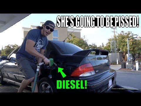 I PUT DIESEL IN MY GIRLFRIEND'S CAR!