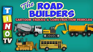 Construction Vehicles for Kids Road Repair | Video for Children