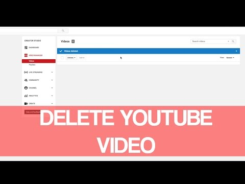 How To Delete Youtube Video 2016