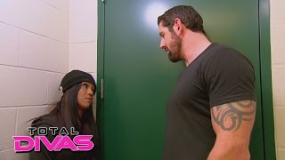 Alicia Fox confronts her ex-boyfriend, Bad News Barrett: Total Divas, February 15, 2015