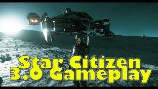 Star Citizen 3.0 PTU | New Cutlass On Yela Gameplay