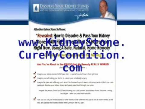How To Dissolve Kidney Stones At Home By Drinking 2 Common Food Ingredients - A Review