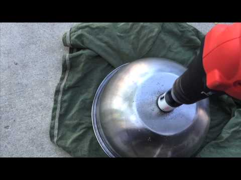DIY Stainless Sink from salad bowl