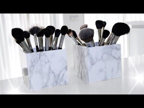 DIY marble makeup brush holder | EASY | Sabrina Anijs