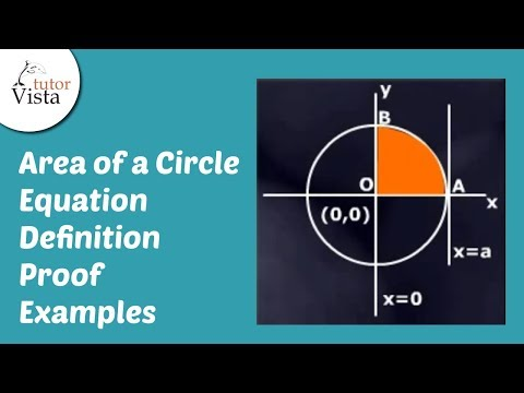 Equation for Area of a Circle