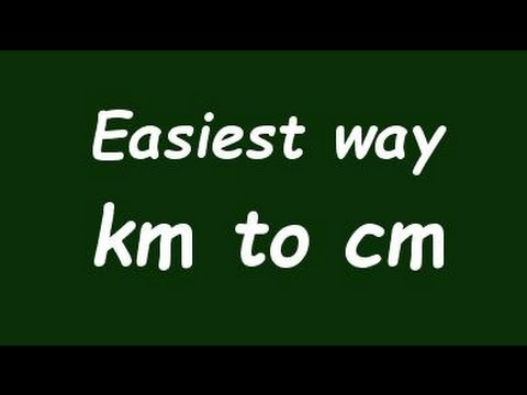 ✅ Convert Km to cm (kilometer to centimeter) with Example