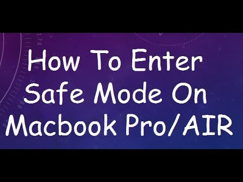 how to enter safe mode on macbook pro
