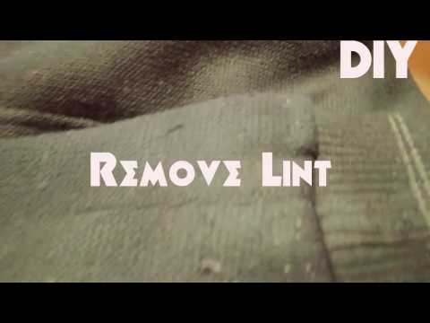 DIY (How to remove Lint from clothes)