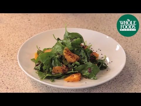 Baby Spinach Salad with Clementine Vinaigrette | Health Starts Here™ | Whole Foods Market