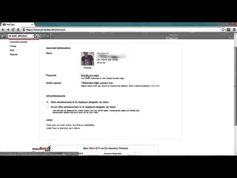 How to Change your YouTube Password  Learn How to reset youtube password 2013