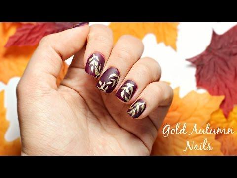 Gold Autumn Nails   Viki Nailbeauty