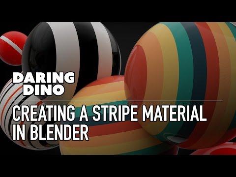 Creating a Stripe Material in Blender