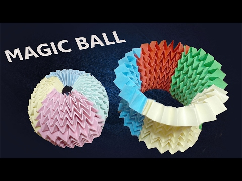Origami Magic ball-tutorial- multi color method