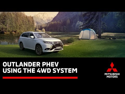 How to use the Outlander PHEV 4WD Lock and S-AWC for driving on snow or mud