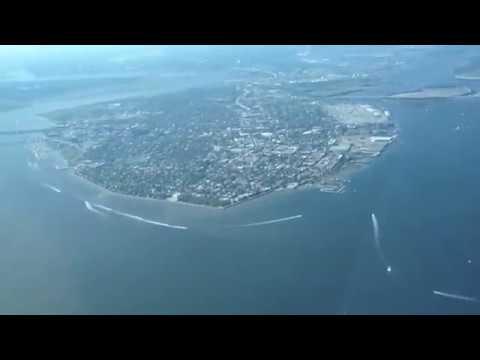 Flying over Charleston South Carolina KCHS
