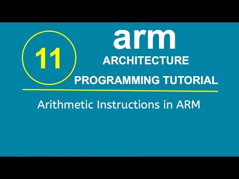 ARM Programming Tutorial 11- Arithmetic Instructions in ARM