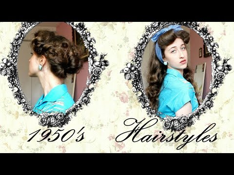 2 1950's Hairstyles For Long Hair
