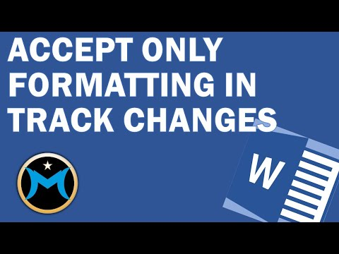 Accept Formatting in Track Changes