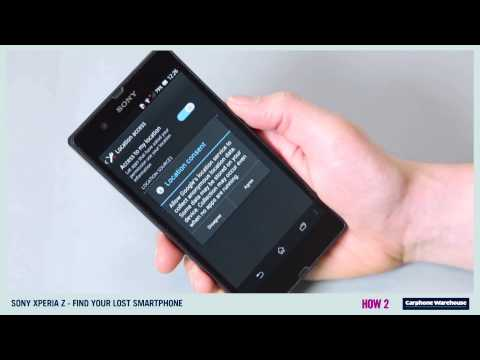 SONY XPERIA Z - HOW 2 Find your lost smartphone?