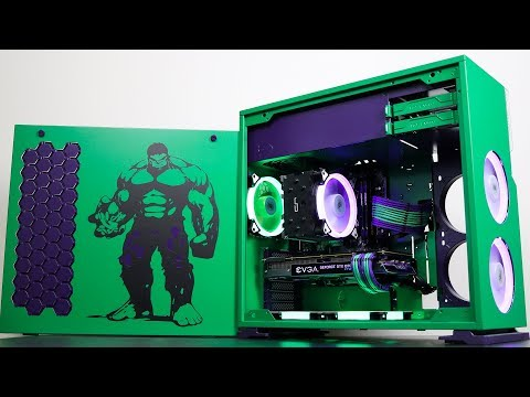 Hulk PC Mod - Build Sequence Time Lapse at 10,000% Speed