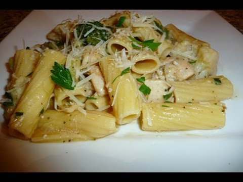 Creamy Chicken Rigatoni with Parmesan Cheese