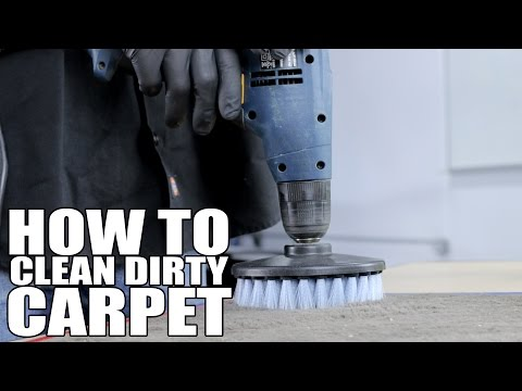 How To Clean Dirty Carpet - Chemical Guys Gray Carpet Brush For Drill