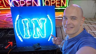 How to make a Neon Sign - Please don't cut this open!