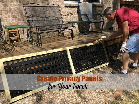 Make Privacy Panels for Your Porch