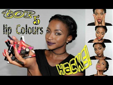 BEST Lipstick HACKS for BLACK WOMEN+ Top 5 MATTE Lipstick Colours!