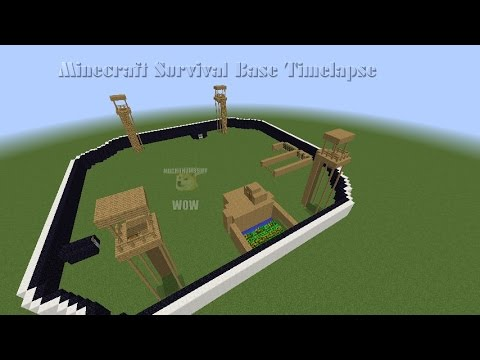 Minecraft zombie base timelapse pt2 (I love building in timelapses :D)