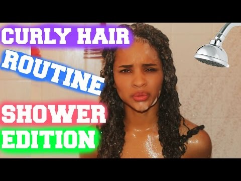 Curly Hair Routine (In The Shower)