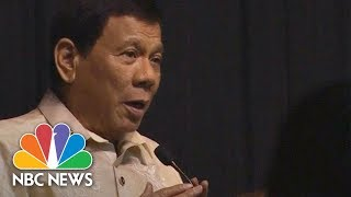 Philippines President Rodrigo Duterte Serenades To President Donald Trump At Dinner | NBC News