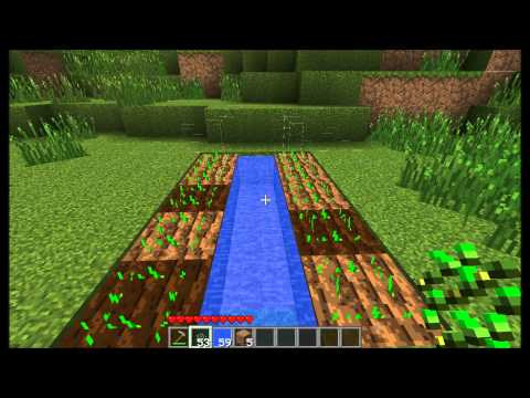 How to create an Efficient Farm + How to make plants grow faster (Minecraft)