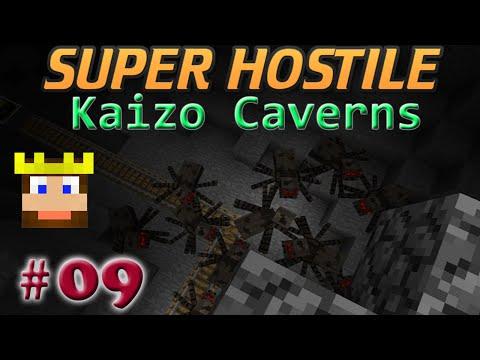 Super Hostile - Kaizo Caverns: Ep 09 - Creeper Statues