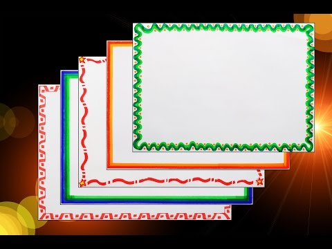 How to decorate borders of project files || 5 attractive borders for project || Part - 2