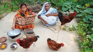 KHATTA MEETHA COUNTRY CHICKEN MASHALA Prepared By Grandmother in Village Style