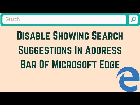How to Disable Showing Search Suggestions In Address Bar of MS Edge