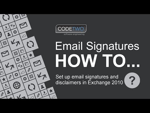 How to set up email signatures and disclaimers in Exchange 2010