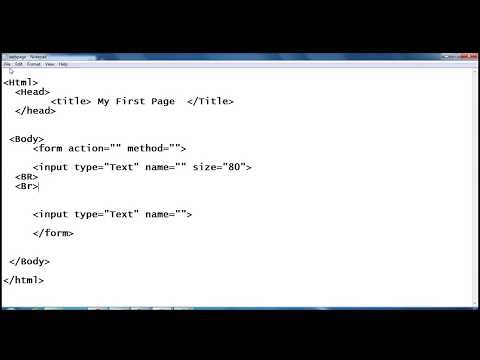 HTML (In Hindi) Tutorial 7: To add Textbox (Input Field) in web page