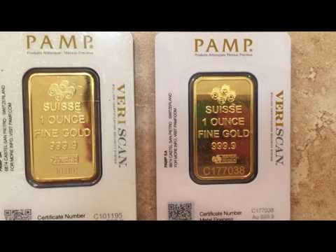 BEWARE OF FAKE PAMP 1oz GOLD BARS on eBay!