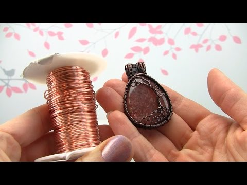 How to Oxidize Bare Copper Jewelry Demo/Tutorial (Wire Wrapped Pendant)