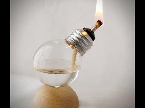 ►How to Make a Light Bulb Oil Lamp