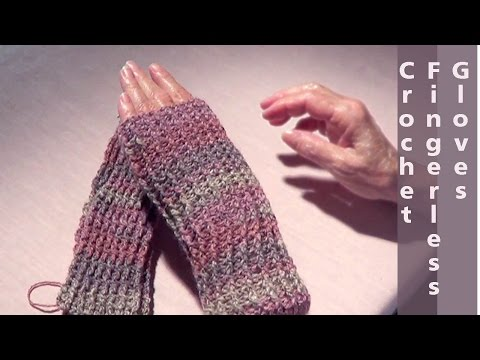 Crochet Fingerless Gloves | Easy Crochet Mitts | Fast Crochet Glove