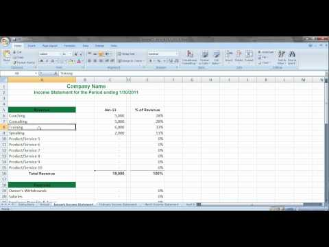 Simple Income Statement for Service Based Business Owners.avi