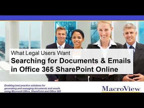 Searching for Documents and Emails in O365 / SharePoint Online